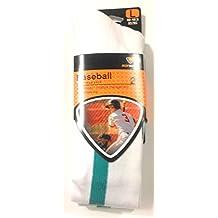 2 Pair Sof Sole Adult Baseball Teal Stirrup Team Sock - Large (Shoe Size 10-13)
