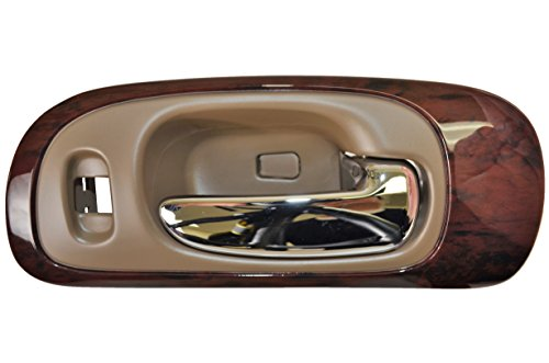 Woodgrain Bezel (PT Auto Warehouse CH-2335ME-FR - Inside Interior Inner Door Handle, Beige Housing with Chrome Lever - with Woodgrain Bezel, Passenger Side Front)