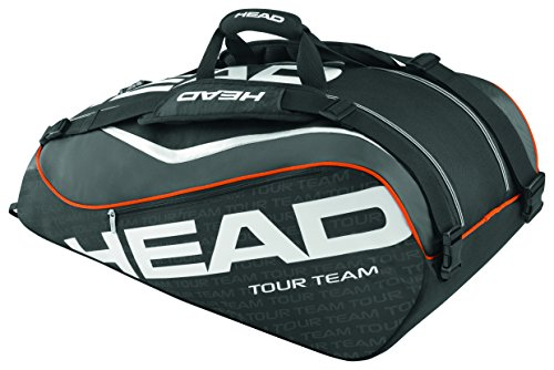 HEAD Tour Team 9R Supercombi Tennis Bag, Black/Gray