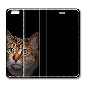 iPhone 6 4.7inch Leather Case - Cat Amazed Fashion Luxury Protective Slim Fit Skin Leather Cover For Iphone 6 [Stand Feature] [Slim - fit] Flip Leather Case Cover for New iPhone 6