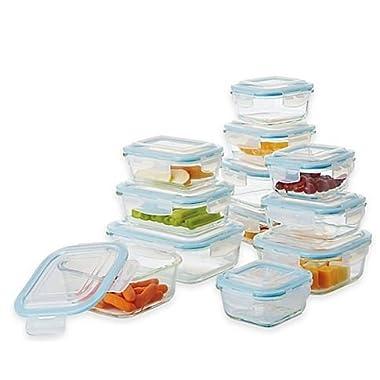 ProGlass 24-Piece Food Storage Set with Easy Snap Lids