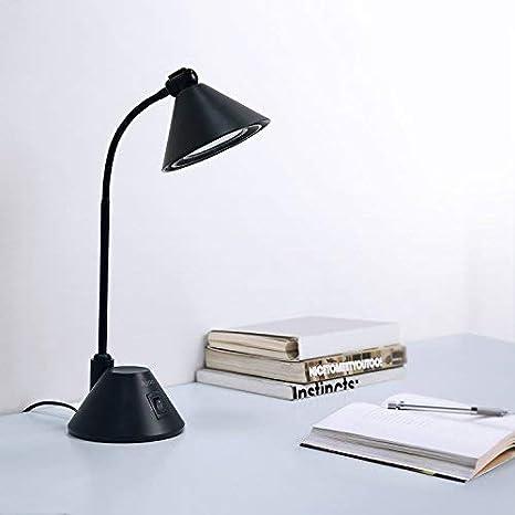 Lampara Escritorio, Aglaia LED Lampara Mesa, 7w Flexo Escritorio, Base de Metal para Studio, Oficina, Lectura Ligera