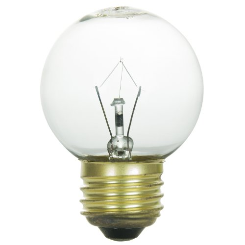 Bulb 60w Med (Sunlite 60G16/CL/MED Incandescent 60-Watt, Medium Based, G16 Globe Bulb, Clear)