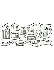 BMBN Dies stencil, hus metall stansar stencil gör-det-själv scrapbooking album papper kort mall form prägling dekoration