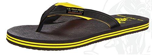 U.S. Polo Assn. Men's Premium Sandals Flip Flops Water Friendly Extra Plush (Large (11-12))