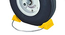 Tigerchocks AC201 Urethane Lightweight Commercial Aviation Wheel Chock, Yellow, 5.5\