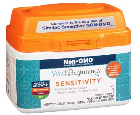Well Beginnings Non-GMO Sensitive Infant Formula 22.5 oz.