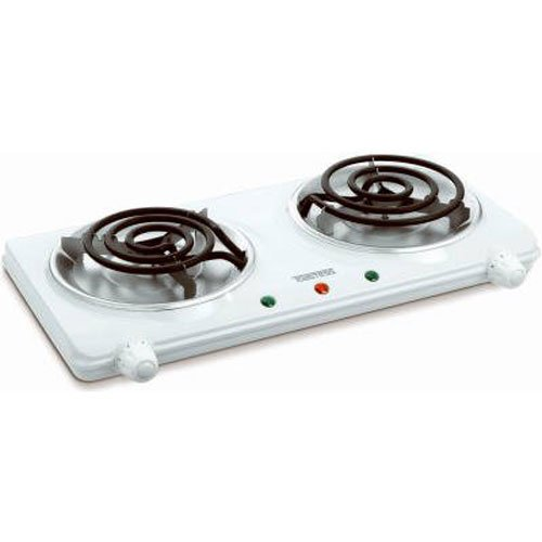 Salton THP-433 Electric Double-Coil Cooking Range, - Cooking Small Range