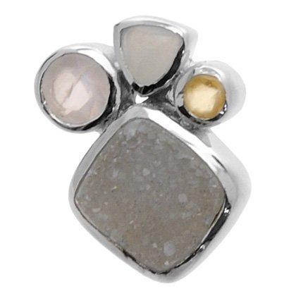 - CrystalAge Multi Gemstone Pendant - Pale Shapes