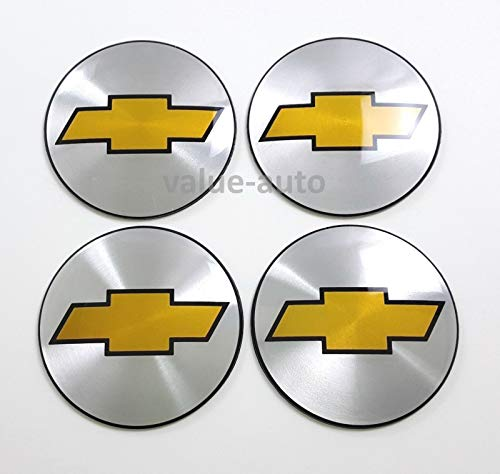 Chevy Suburban 2500 Hub - Armertek OCV88 4X Chevy Silverado Avalanche Suburban 1500 2500 Wheel Center Hub Caps Rim Alloy Dust Stickers Logo (Only Emblems) (Silver)