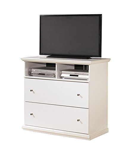 Ashley Bostwick Shoals Media Chest in White by Ashley Furniture