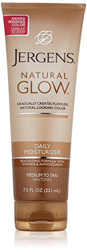 Jergens Glow Daily Moisturizer Med to Tan, 7.5 Ounce, Packaging May Vary