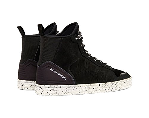 HOGAN HIGH TOP EN DAIM NOIR, Homme.