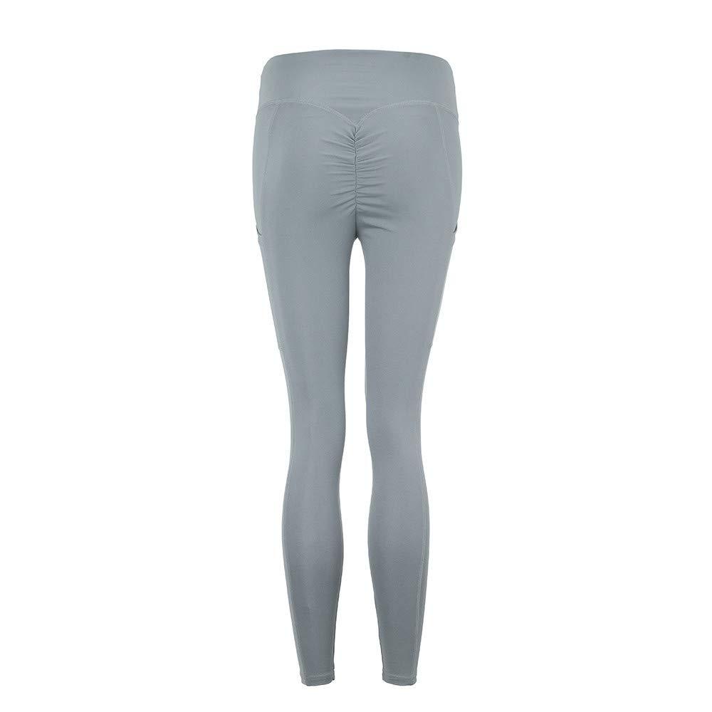 Women Yoga Pants☃Foncircle Workout Leggings Fitness Sports Gym Athletic Pants