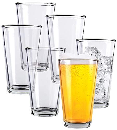 Clear Glass Beer Cups