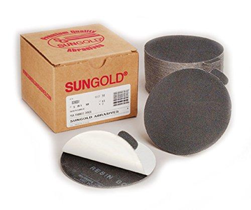 Sungold Abrasives 020129 Glass /& Stone 5 Sanding Discs