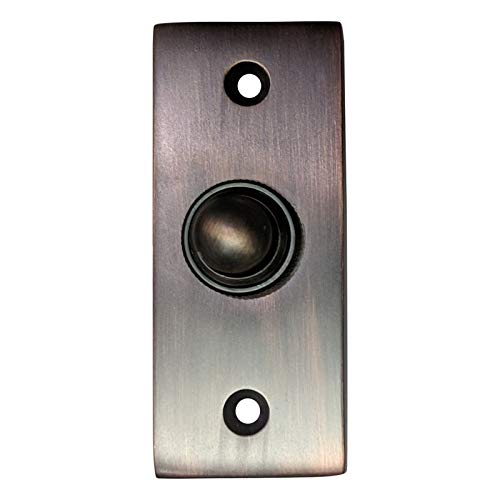 Adonai Hardware Rectangular Victorian Brass Bell Push or Door Bell or Push Button - Oil Rubbed Bronze
