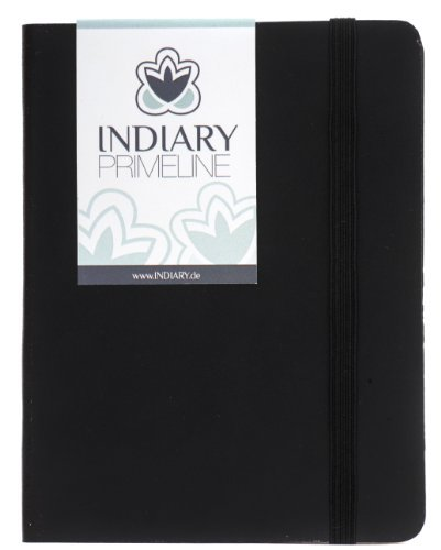 INDIARY PRIME LINE luxury notebook genuine leather and handmade paper A6 – Black