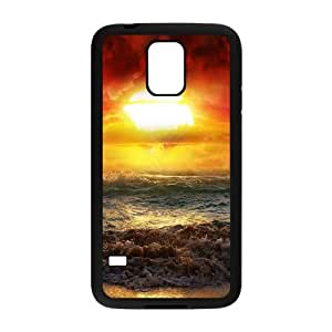 Beach Samsung Galaxy S5 Cell Phone Case Black Phone cover P538664