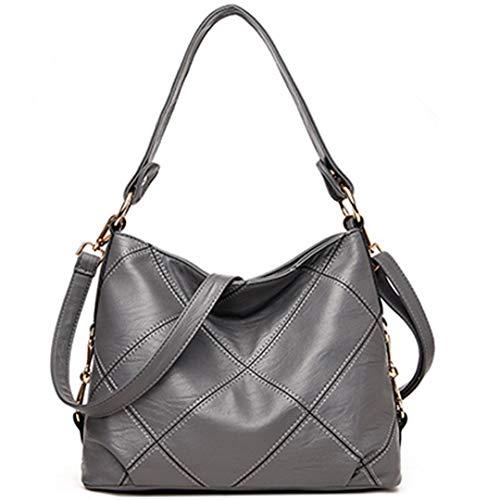 Fashion Grey Borse donna Patchwork Leather Pu da AZwYxqwIR
