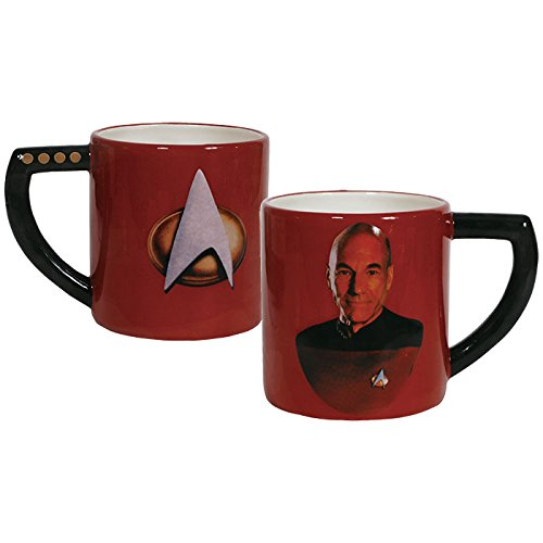 Westland Giftware Ceramic Mug, Captain Picard, 16 oz., Multicolor