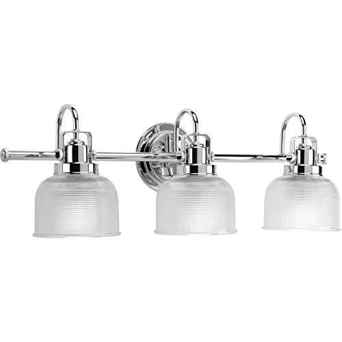Progress Lighting P2992-15 Archie Collection Three-Light Bath & Vanity, Polished Chrome