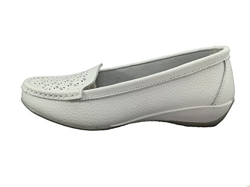 Destroy Women's Loafer Flats White White nzndLlWAn