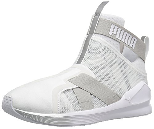 (PUMA Women's Fierce Strap SWAN WN's Cross-Trainer Shoe, White, 6 M US)
