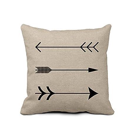 Arrow Decorative Pillow Case Burlap Linen Pillow Case Retro Art Throw  Cushion Cover For Couch Home