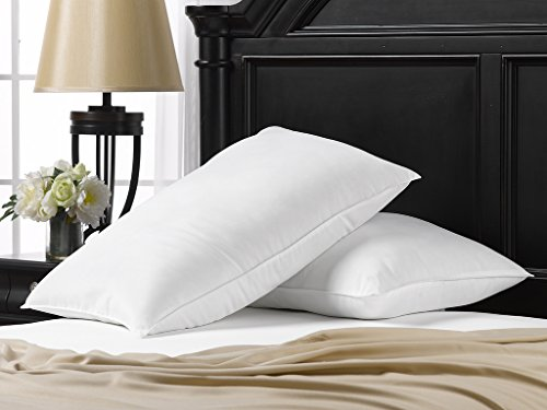 soft ella jayne home standard size bed pillows 2 pack white hotel pillows gel fiber filled soft gel pillows with classic cover best pillow