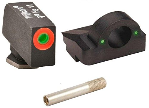 Ultimate Arms Gear Pro 3 Dot Tactical Combat Target Glock Front And Rear Ghost Ring Sight Set