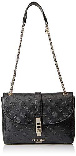 GUESS Peony Classic Covertible Crossbody Flap, Black (Best Classic Handbags 2019)