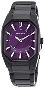 Police Women's Purple Dial Stainless Steel Band Watch - P12895LSB-15M