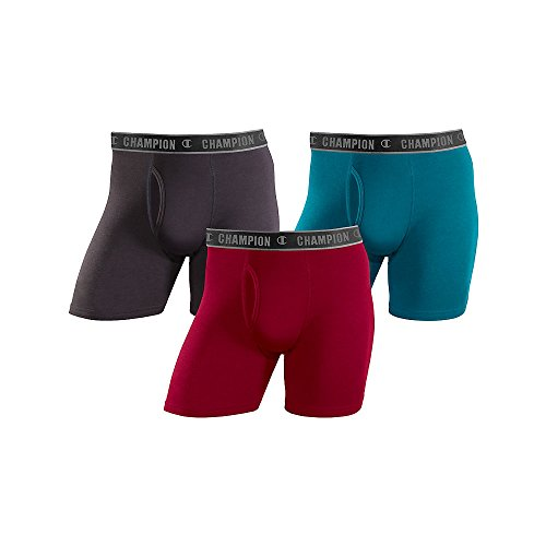 Champion Men's Cotton Performance Regular Leg Boxer Brief 3-Pack
