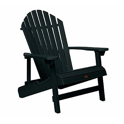 Highwood Hamilton Folding and Reclining Adirondack Chair, King Size, Whitewash