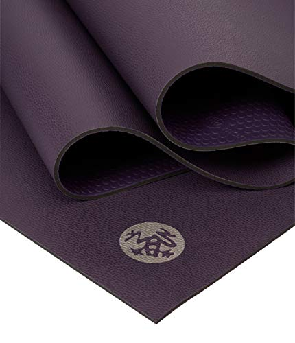 Manduka GRP Hot Yoga Mat 4mm Thick, Non-Slip, Non-Toxic, Eco-Friendly - 71 Inch Long, Magic, No Towel Needed. Made with Dense Cushioning for Stability and Support