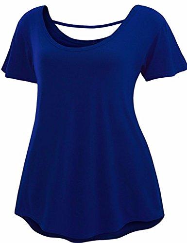 Long Tee Femme EMMA T Courte Robe Tunique Mini Et Manche Robe Chic Casual Robe Shirt Bleu Shirt fHOwq7Ff