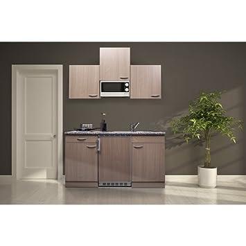 Ordentlich respekta KB150BBMI Single Küche Küchenzeile Küchenblock 150 cm  CI56