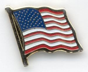 Etched Pin (American Flag Pin - Brass Etched)