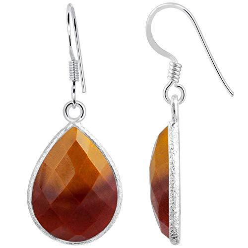 14.5 Ctw Mookaite Jasper Jewelry By Orchid Jewelry : Hypoallergenic Dangle Earrings For Sensitive Ears, Nickel Free Wedding Earrings, Sterling Silver Bridal Dangling Earring