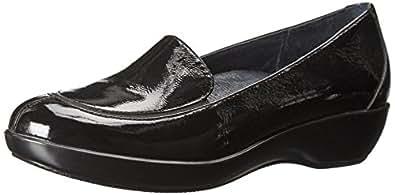 Dansko Women's Debra Slip-On Loafer,Black Crinkle Patent,36 EU/5.5-6 M US