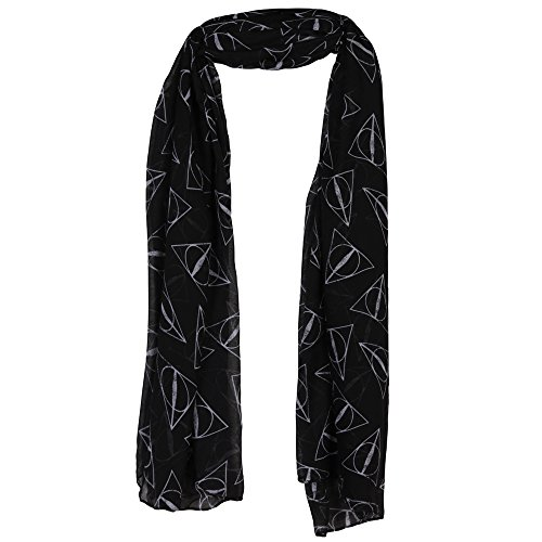 Harry Potter Deathly Hallows Fashion Scarf, Black, OS]()