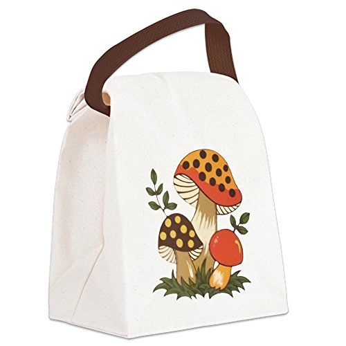 CafePress - Merry Mushroom Canvas Lunch Bag - Canvas Lunch Bag with Strap Handle