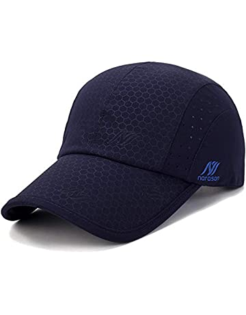 c6a1bc6a453 iBasingo Soft Brim Lightweight Waterproof Breathable Sport Running Baseball  Cap Men and Woman Quick-Dry