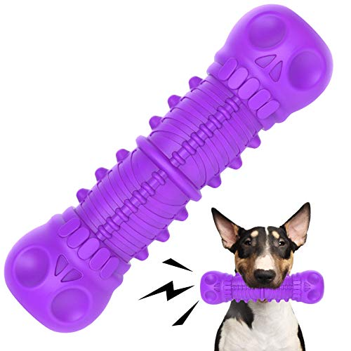 FRLEDM Dog Toys-Dog Toys for Large Dogs Aggressive Chewers,Toughest Natural Rubber Dog Bones Interactive Dog Toys for…