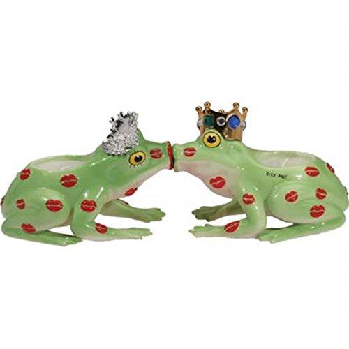 WL SS-WL-11945 Prince & Princess Kissing Toads Magnetic Tea Lights (Set of 2), 3.75