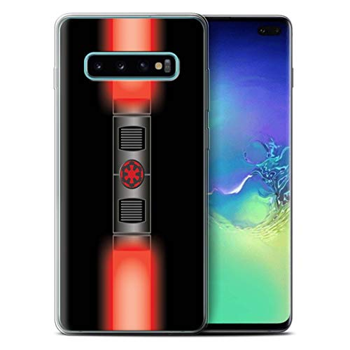 eSwish Gel TPU Phone Case/Cover for Samsung Galaxy S10 Plus/Maul Sith Lord Red Design/Lightsaber Laser Sword Collection ()