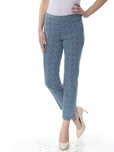 (Michael Kors $110 Womens New 1054 Light Blue Jacquard Capri Pants XS B+B )