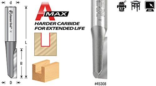 Amana Tool 45310 Carbide Tipped Straight Plunge Single Flute High Production 1//2 D x 1-1//2 CH x 1//2 Inch SHK Router Bit