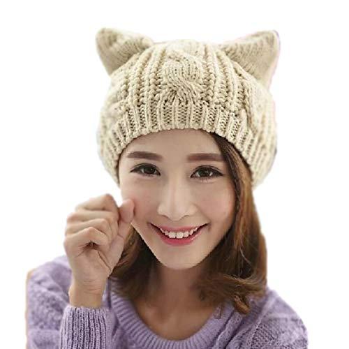 Cute Dresses For 12-13 Year Olds (Amberetech Cute Woollike Knitted CAT Kitty Ears Women Lady Girl Headgear Crochet Hats)
